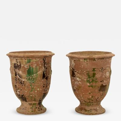 Pair of Large Early 19th Century Anduze Jars by Boisset