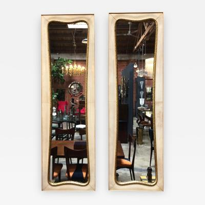 Pair of Large Italian Wall Mirrors 1950s