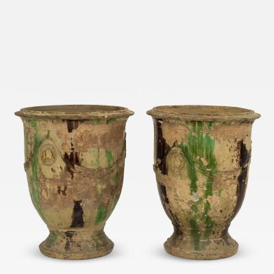 Pair of Large Mid 19th Century Anduze Jars by Louis Bourget