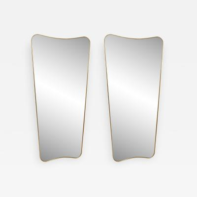 Pair of Large Mirrors in style of Gio Ponti