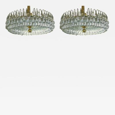 Pair of Large Moderne Light Fixtures