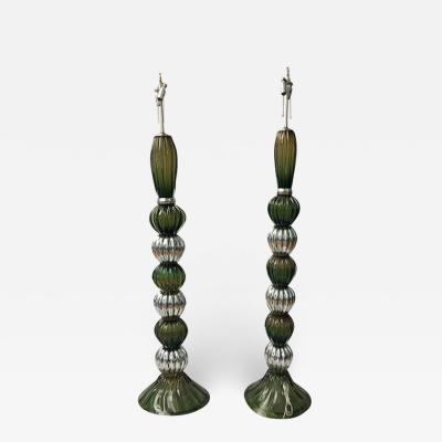 Pair of Large Murano Floor Lamps