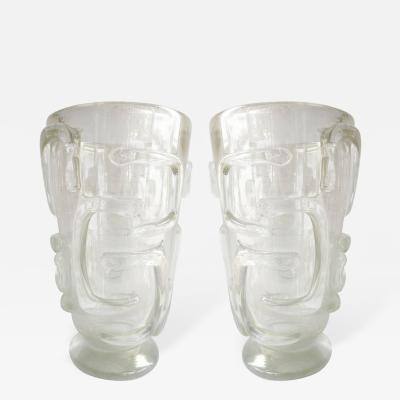 Pair of Large Murano Glass Vases