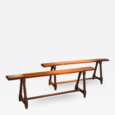 Pair of Late 17th Century French Beechwood Long Benches
