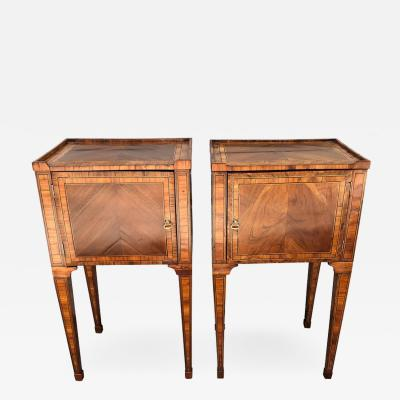 Pair of Late 18th Century Neoclassical Italian Commodes End Tables