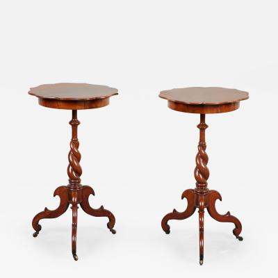 Pair of Late 19th C Swedish Walnut Side Tables