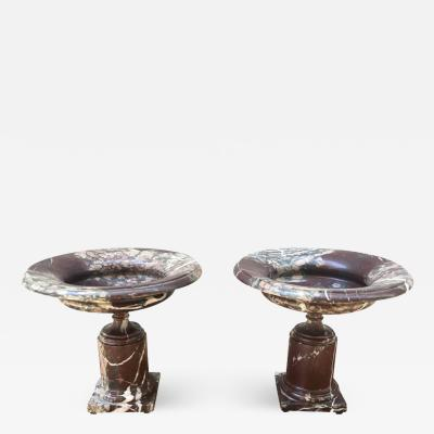 Pair of Late 19th Century Marble Tazzas