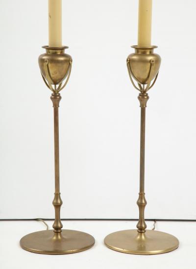 Pair of Louis Comfort Tiffany Inspired Lamps