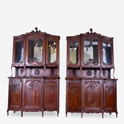 Pair of Louis XV Style Oak Buffet