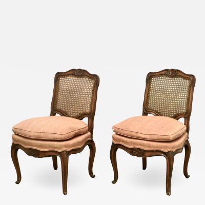 Pair of Louis XV Style Slipper Chairs