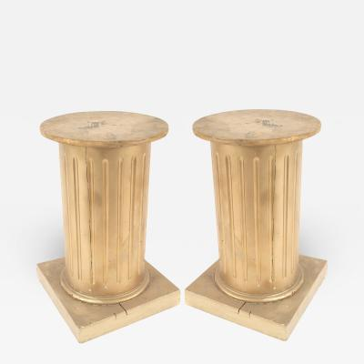 Pair of Louis XVI Gold Column Pedestals