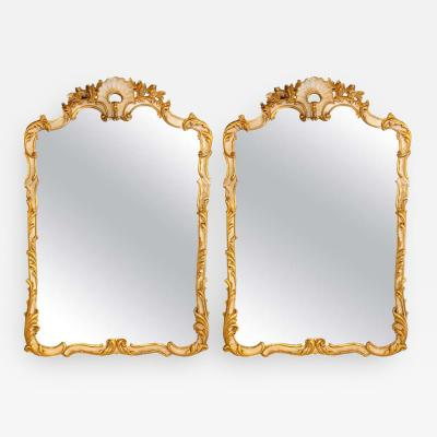Pair of Louis XVI Style Giltwood Wall or Console Mirrors Italian