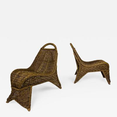 Pair of Lounge Chairs circa 1950 France