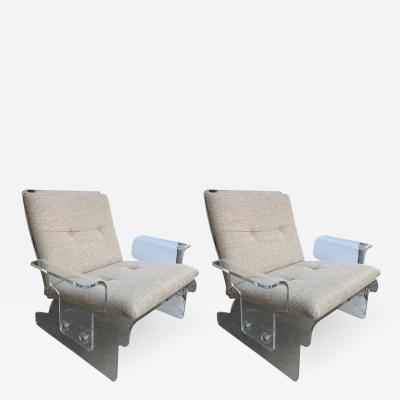 Pair of Lucite Armchairs by Baumann Germany 1970s