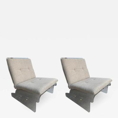 Pair of Lucite Slipper Armchairs by Baumann Germany 1970s