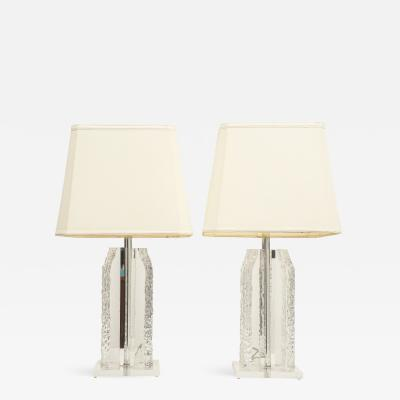 Pair of Lucite Table Lamps