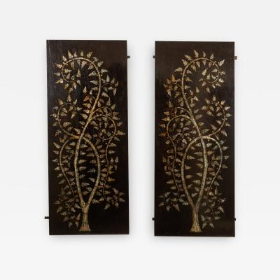 Pair of MOP Inlaid Tree of Life Vietnamese
