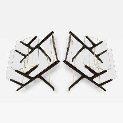 Pair of Magazine Book Racks Italy 1950s