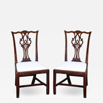 Pair of Mid 18th Century Chippendale Side Chairs