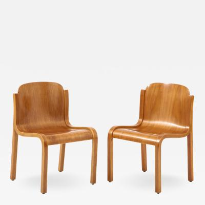 Pair of Mid Centiury Molded Beechwood Side Chairs