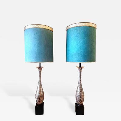 Pair of Mid Century Anglo Indian Large Table Lamps