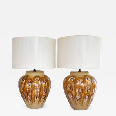 Pair of Mid Century Ceramic Table Lamps