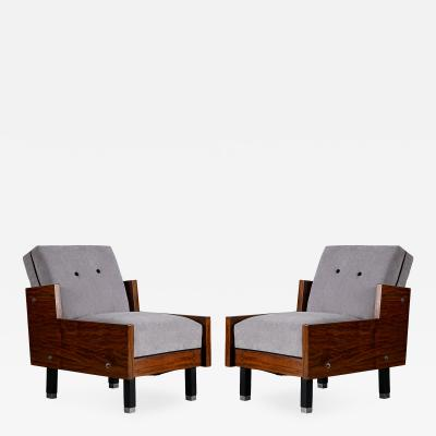 Pair of Mid Century Club Chairs