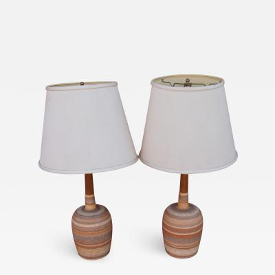 Pair of Mid Century Danish Ceramic Table Lamps