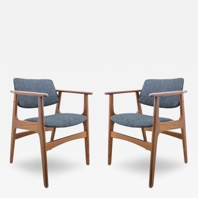 Pair of Mid Century Danish Modern Teak Armchairs