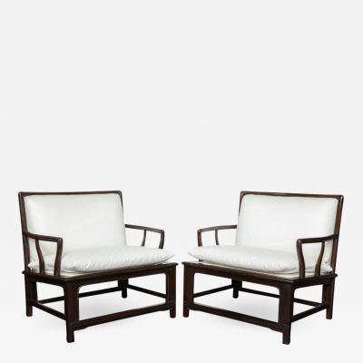 Pair of Mid Century Ebonized Armchairs Widdicomb