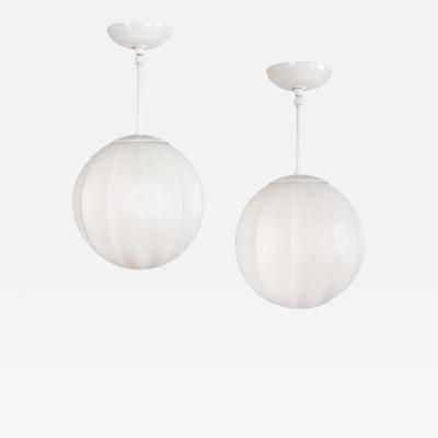 Pair of Mid Century Globe Pendants