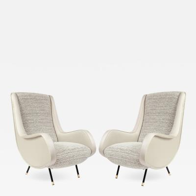 Pair of Mid Century Italian Armchairs