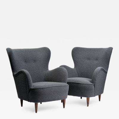 Pair of Mid Century Italian Armchairs
