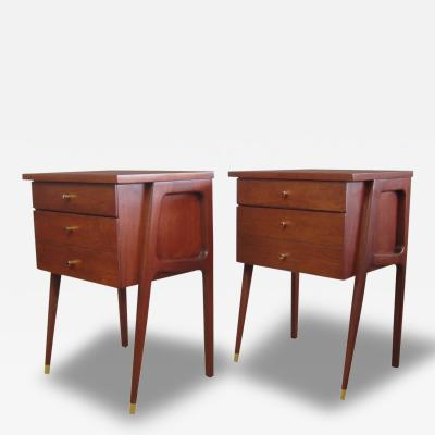 Pair of Mid Century Italian Side Tables or Nightstands