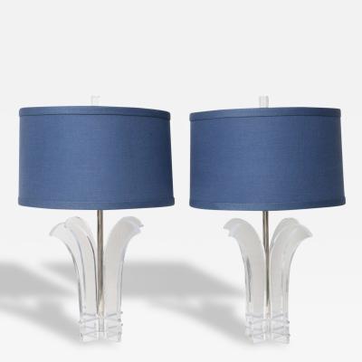 Pair of Mid Century Lucite Lamps