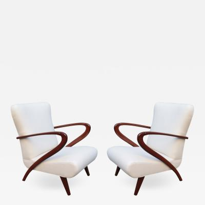 Pair of Mid Century Modern Italian Armchairs