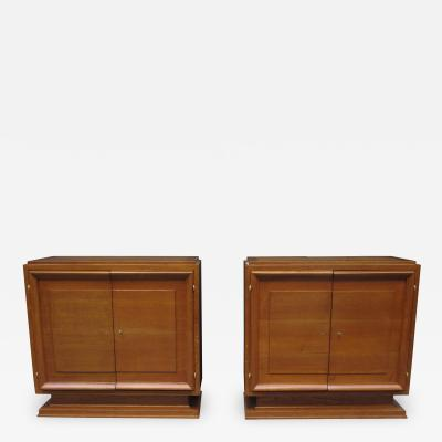 Pair of Mid Century Oak Cabinets