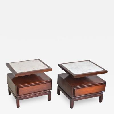 Pair of Mid Century Sculptural Side Tables
