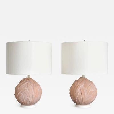 Pair of Mid Century Terracotta Table Lamps