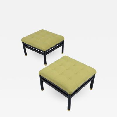Pair of Mid Century Tufted Benches