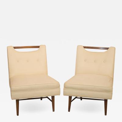 Pair of Mid century Slipper Chairs