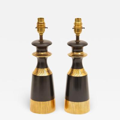 Pair of Midcentury Table Lamps by Crown Devon Memphis Range