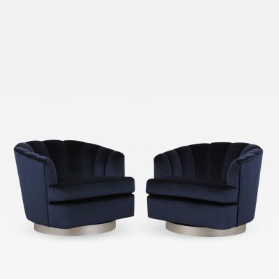 Pair of Modern 1960s Swivel Chairs
