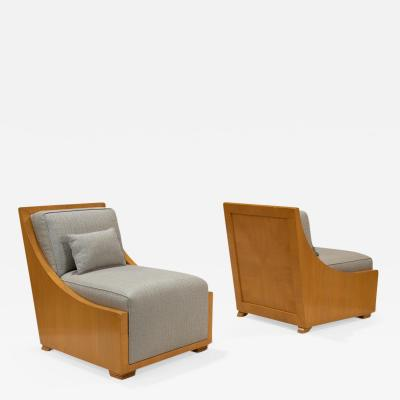 Pair of Modern Decorative Lounge Chairs