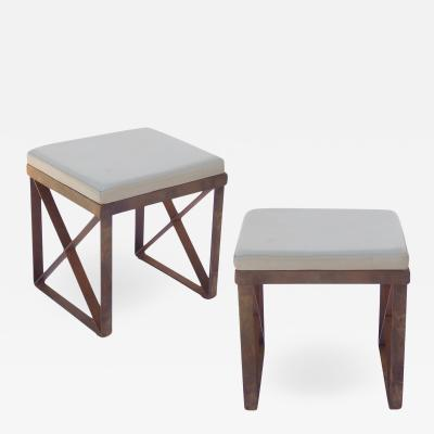 Pair of Modern Iron X Benches