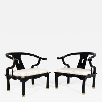 Pair of Modern Style Horse Shoe Armchairs