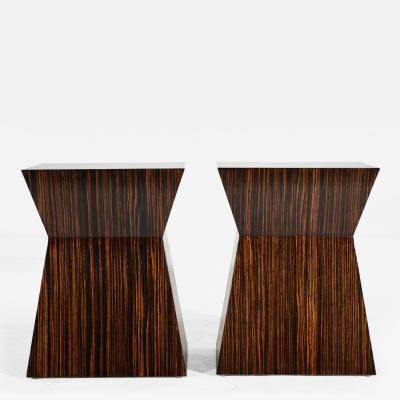 Pair of Modern style Macassar Ebony Side Tables