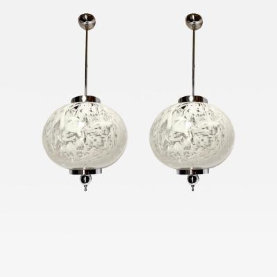 Pair of Moderne Glass Lanterns Sold Individually
