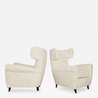 Pair of Modernist Wing Chairs