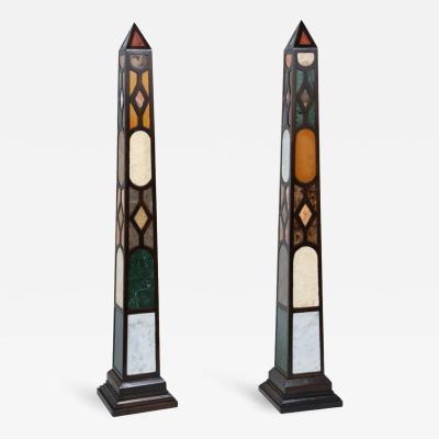 Pair of Monolithic Specimen Obelisks